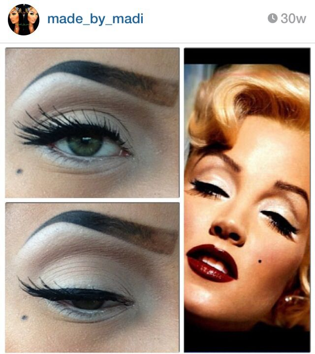 <3 marilyn monroe inspired makeup old hollywood glamour                                                                                                                                                                                 More