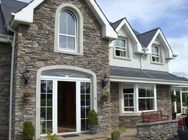 rumah minimalis tampak depan batu alam home pinterest