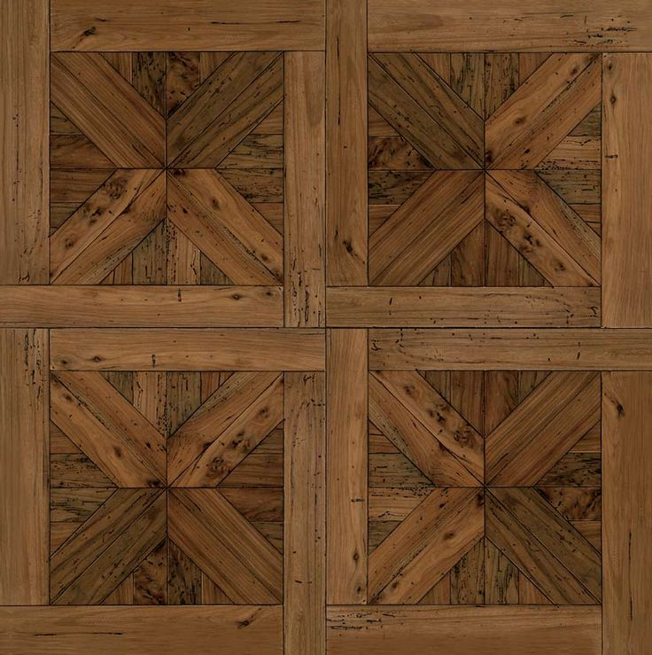 Reclaimed wood in traditional pattern