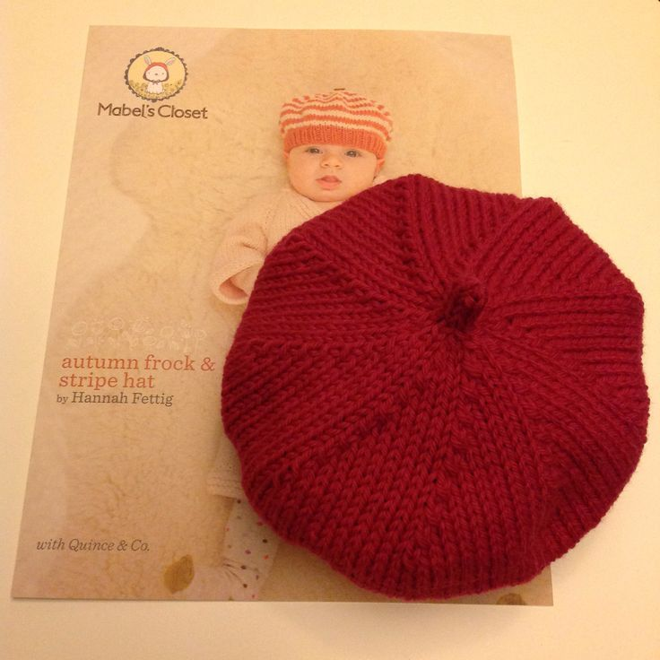 This is the cutest little baby beret I have ever knitted and it only took a couple of hours!