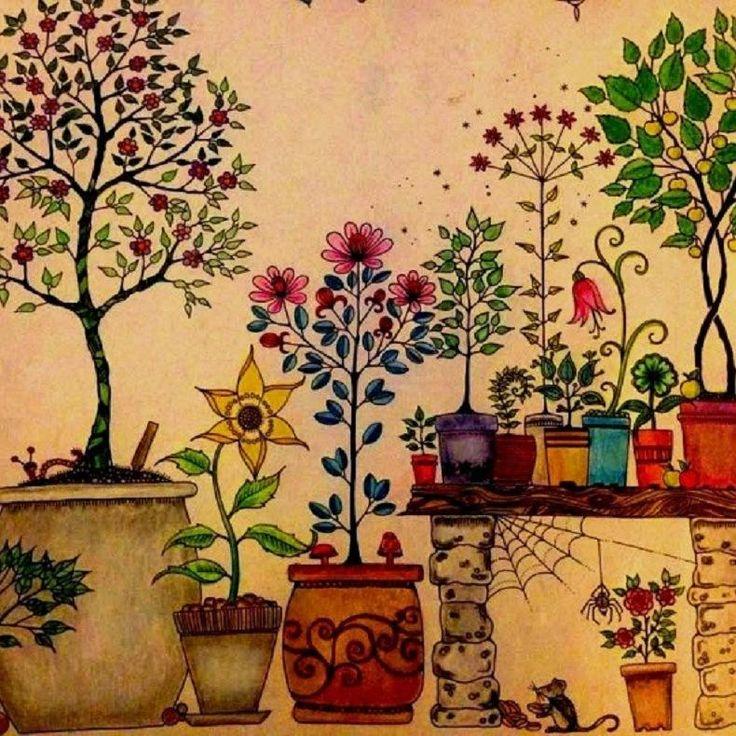 Graffiti Album Secret Garden Un Inky Treasure Hunt Et Coloring Book Enfants Adultes