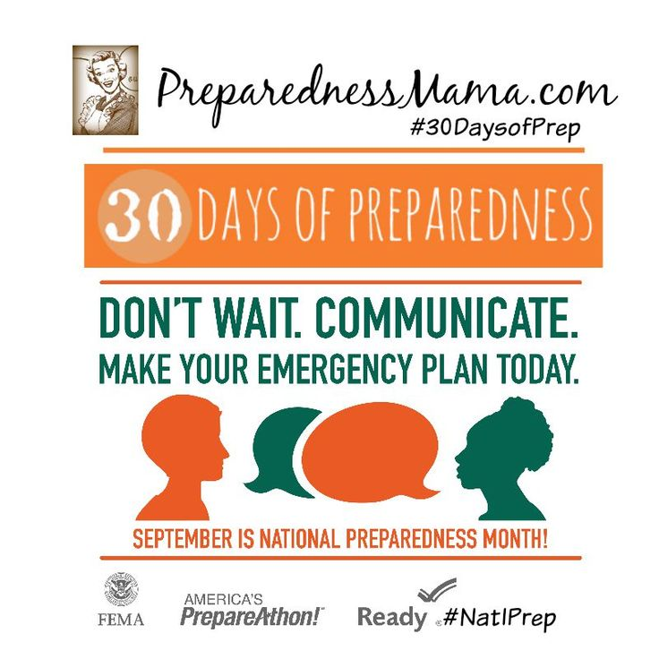 It's National Preparedness Month. Join us for 30 Days of Preparedness. Isn't it about time you got prepared? | PreparednessMama #30DaysOfPrep #NatlPrep