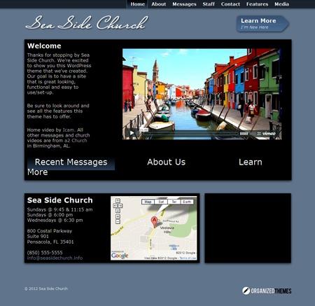 Sea Side Church WordPress Theme for Non Profit Organizations