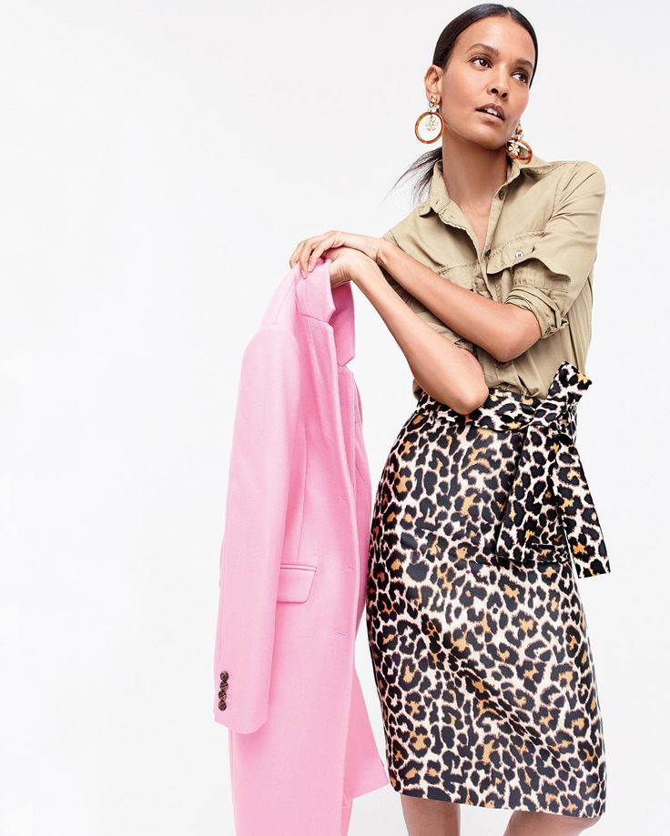 Do you speak J.Crew? Leopardize v. \ lep-or-dize \ To add a little—or a lot of—leopard to your look. #speakjcrew