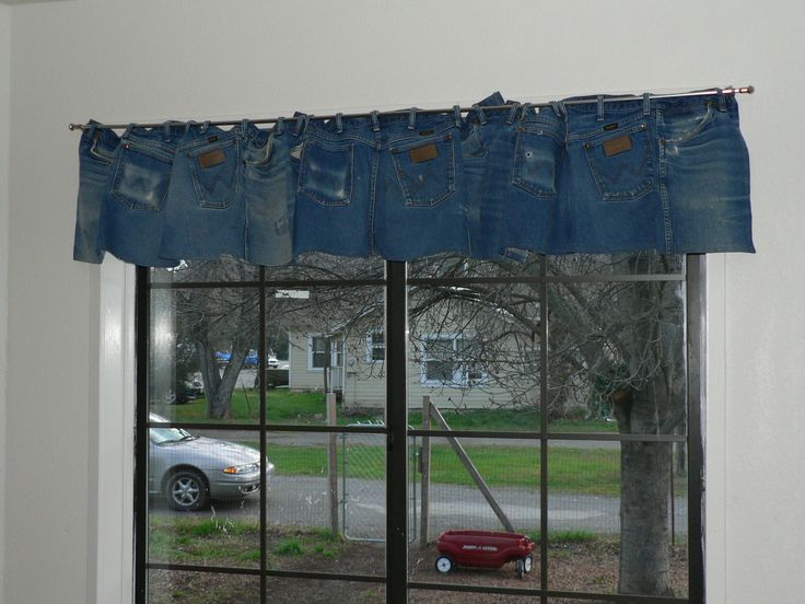 Blue Denim Jean Curtains That Cover A 4 1 2 Foot Window
