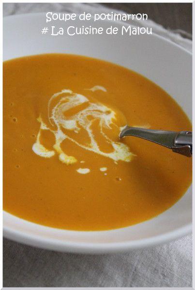 Soupe de potimarron et pommes de terre à la muscade (thermomix)