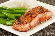 Salmon Fillets with Garlic-Soy Pan Sauce  This is a quick recipe for pan-seared salmon fillets drizzled with an easy-to-make, garlicky pan sauce. The sauce, made with finely chopped garlic, lime juice, soy sauce and brown sugar is the perfect blend of sweet and savory.