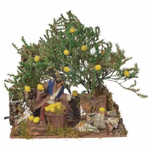Mann mit Zitronen 12cm bewegliche Szene | Online Verfauf auf HOLYART