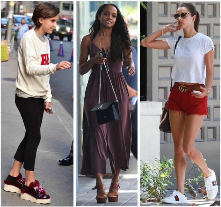 Celebrity Street Style of the Week: Millie Bobby Brown, Rachel Lindsay, & Alessandra Ambrosio. Get Millie Bobby Brown's furry platform sneakers, Rachel Lindsay's culotte jumpsuit, and Alessandra Ambrosio's amped up accessories, on a budget.