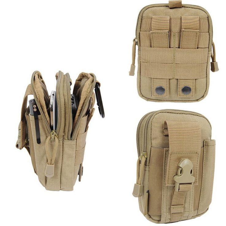 Nueva Llegada Tactical Molle Bolsa Cinturón Riñonera Bolsa Pequeña bolsillo Militar Cintura del paquete de Fanny Hip Cinturón de Cintura Bolsillo para el Teléfono bolsa