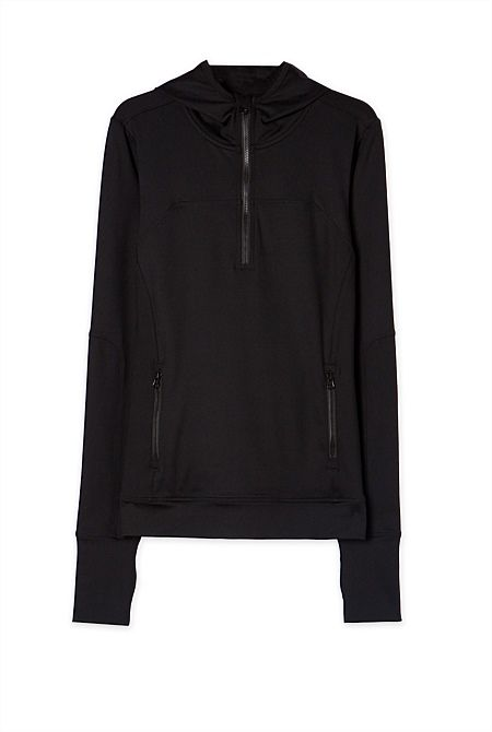 Health Goth // Country Road / Train Ready Zip-Up Hoodie