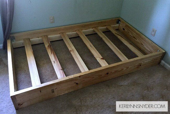 13 Diy Bed Frame Projects With Gorgeous Results Diy Twin Bed