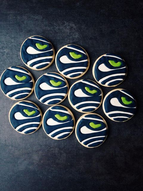 Seahawks Sugar Cookies