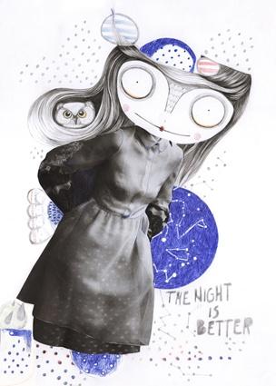 the night is better: Silvia Pavarini, Collage Art, Illustration, Arty Stuff, Illustrators, Graphics, Pavarini Art, Illustrator Silvia, Art Inspirations