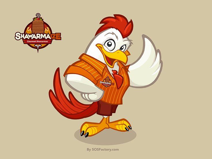 Shawarmaize Chicken Mascot design                                                                                                                                                                                 More
