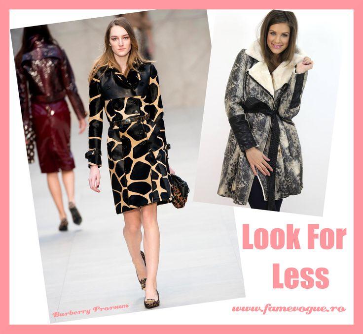 Chic #animaprint #coat available at www.famevogue.ro.   #haine #palton #coat #style #fashion #trends