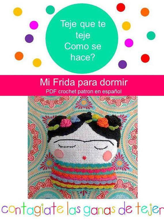 Mi Frida para dormir. Frida Kahlo Almohadón Patrón PDF