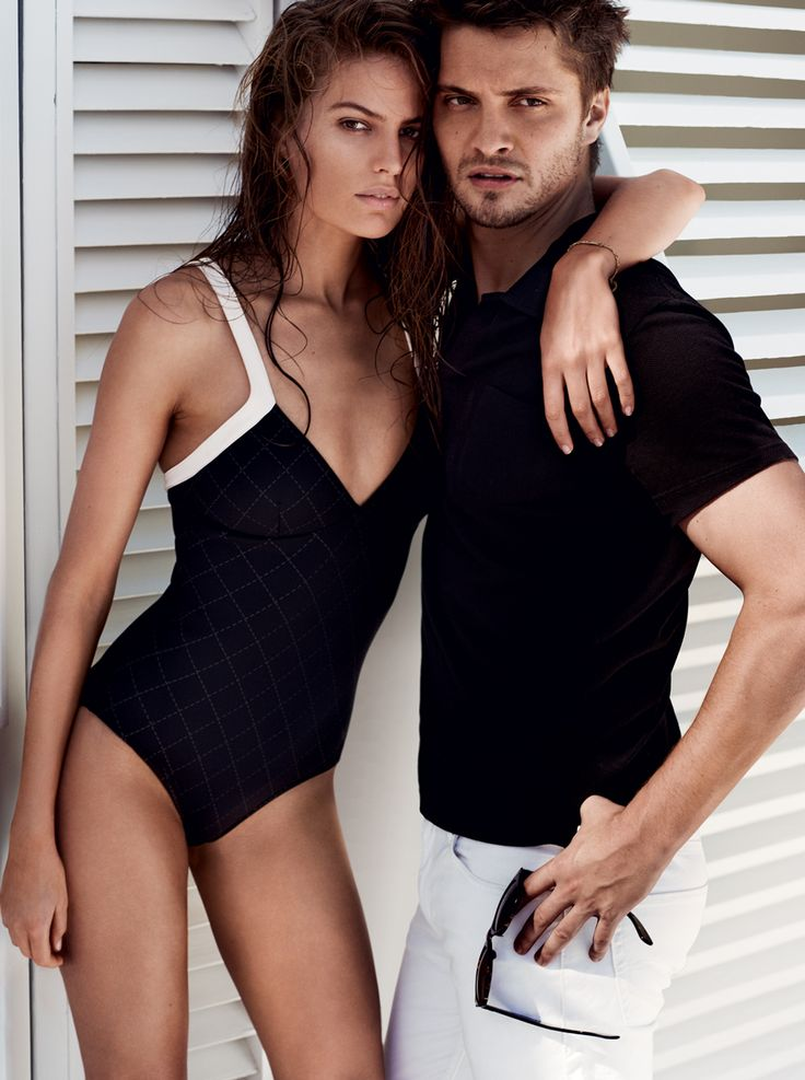Fifty Shades of Grey's Luke Grimes and Cameron Russell In the Next Wave of Swimsuit Style – Vogue