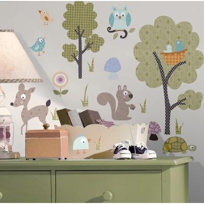Room Mates Woodland Animals Peel and Stick Wall Sticker