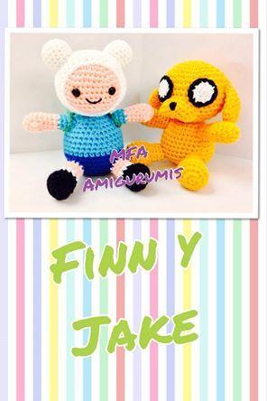Finn y Jake- Hora de Aventuras- www.facebook.com/MFAAmigurumis