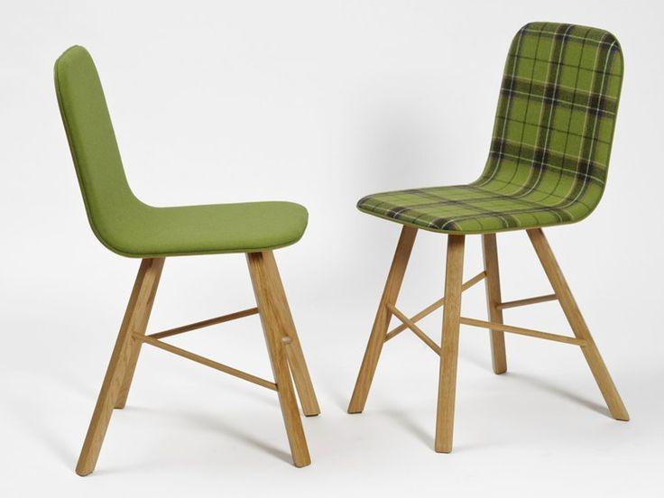 TRIA SIMPLE Chaise en tissu by Colé Italian Design Label design Lorenz*Kaz