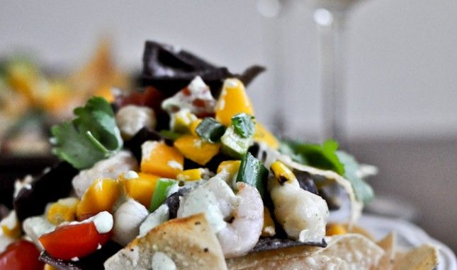 Easy Dinner Idea: Seafood Nachos