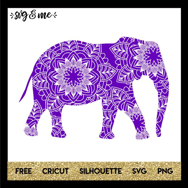 Download Purple Mandala Elephant | Cuttin' with Cricut | Mandala ...