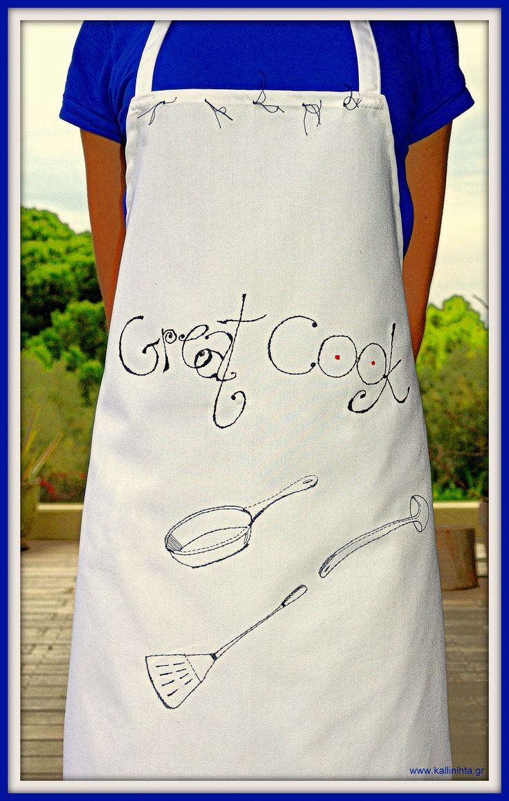 Personalised cook's apron