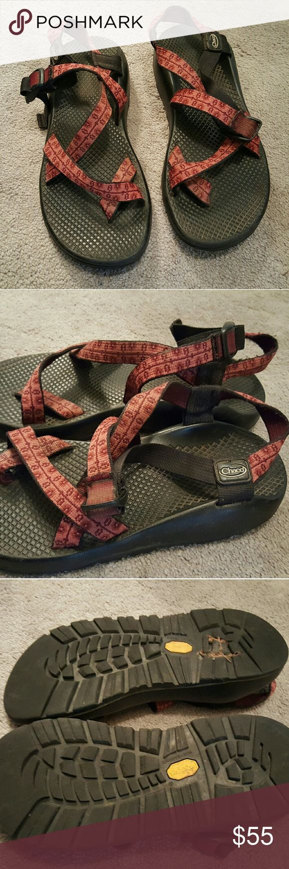 Women's Chacos Sandals Women's Chacos Sandals in deep red. Only worn a handful of times. Chacos Shoes Sandals
