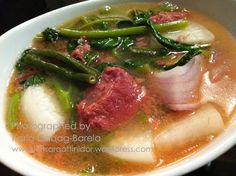Sinigang na Corned Beef (Corned Beef in Sour Broth)
