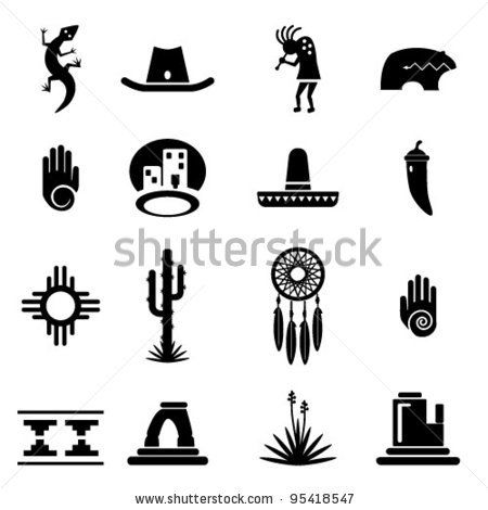 South West Indian Symbols Their Meanings Clipart Library