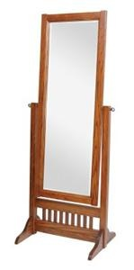 Amish Craftsman Mission Full Length Cheval Floor Mirror