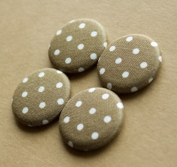 Brown Polka Dot Magnets  set of 4 by HowlOwl on Etsy.
