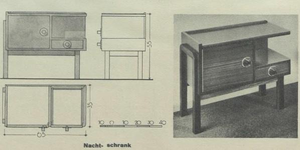 1930's, bedside cabinet