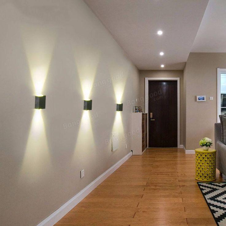 up down led wall light aluminum 2w modern led wall light on wall sconces id=16664