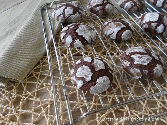 La bottega delle dolci tradizioni: Crackle tops al cioccolato