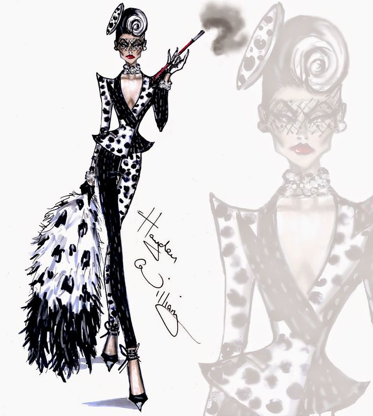 "Hayden Williams Fashion Illustrations: Cruella de Vil collection by Hayden Williams ""Spot On Dahling"""