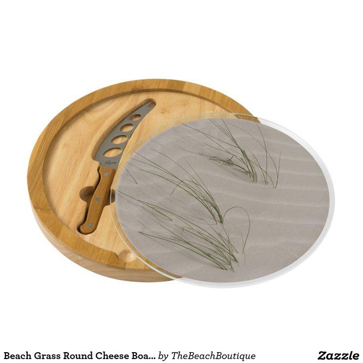 Beach Grass Round Cheese Board - #windywinters #zazzle