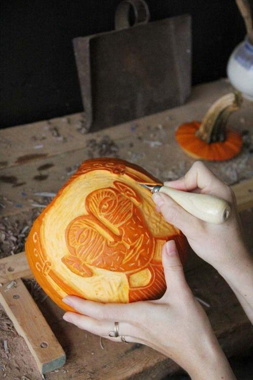 Amelie Mancini's pumpkins for the Design*Sponge Pumpkin Project #diy #halloween #pumpkins