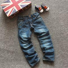 Иностранные дети джинсы большой мальчик мальчиков случайные брюки брюки осенние и зимние брюки джинсовые мальчик студентов в возрасте 2-14