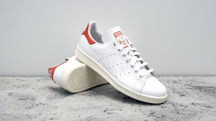 stan smith white and red