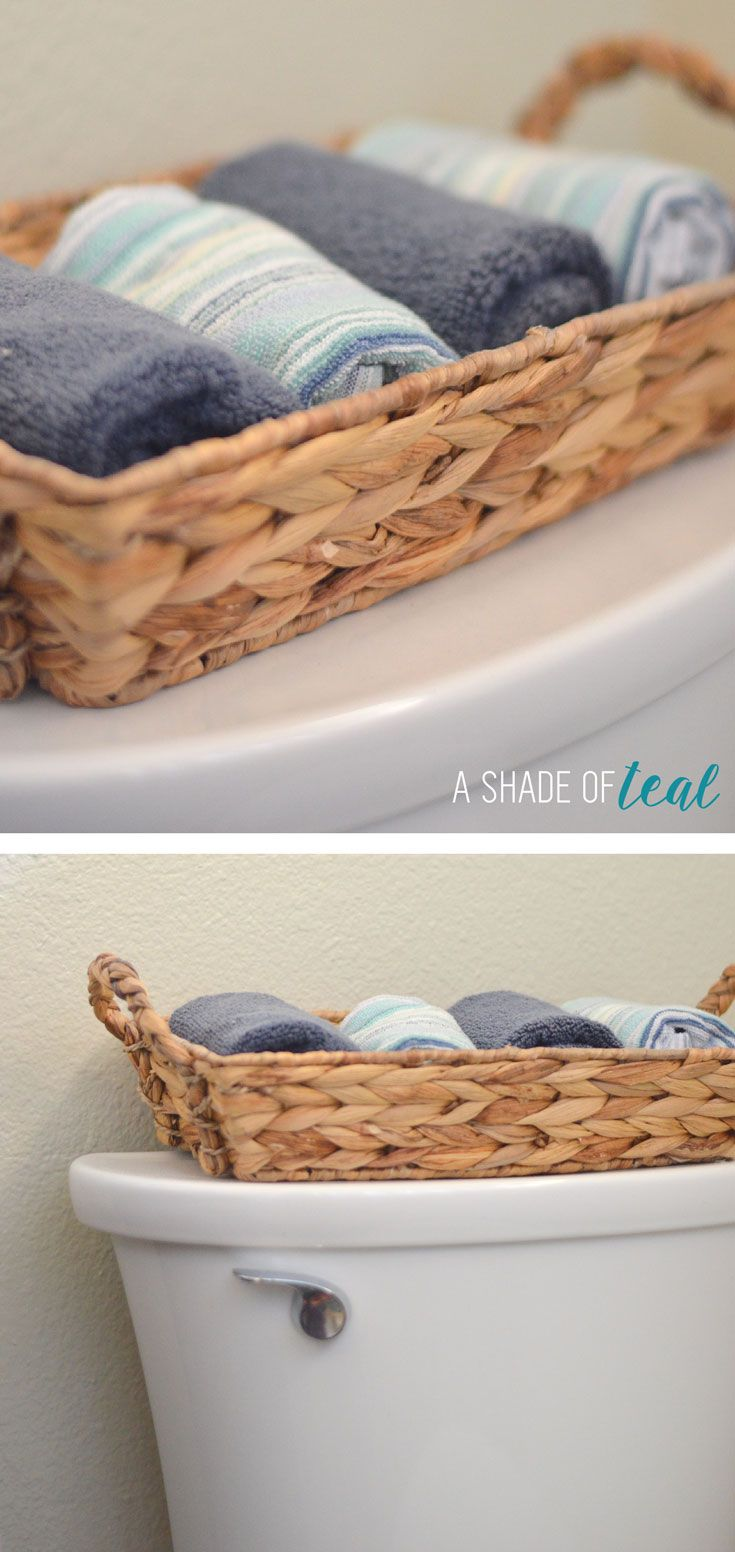 Hall Bath Chronicles- Decor Bathroom decor, navy teal blue beach & nautical theme.| A Shade Of Teal