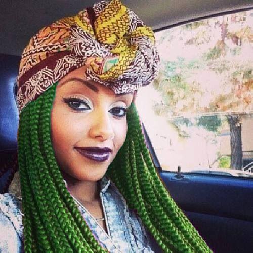 green box braids - Google Search