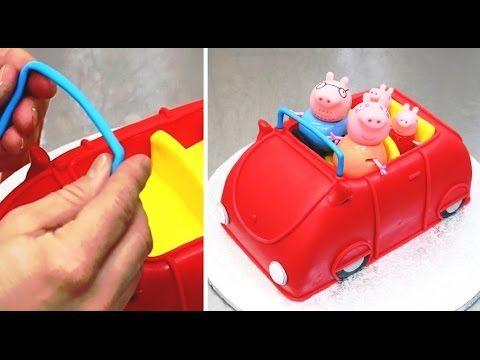 Peppa Pig 3D Car Cake - Fun & Easy To Make by CakesStepbyStep - YouTube