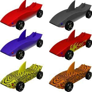shark pinewood derby cars derby cars