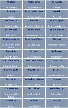 The most frequent collocations in spoken English - learn English,expressions,english Más