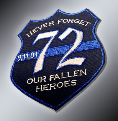 Law Enforcement Memorial Shirts for sale   11 POLICE MEMORIAL PATCH - HONORING THE 72 FALLEN POLICE OFFICERS ...