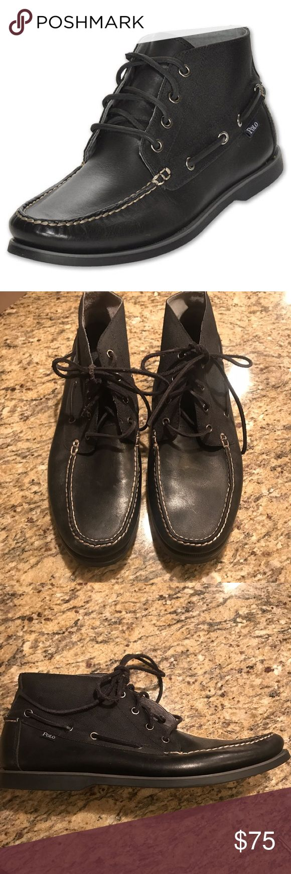Ralph Lauren Black Polo Brawley Mid High Boots Ralph Lauren Black Polo Brawley Mid High Boots- worn once! New condition! Polo by Ralph Lauren Shoes Chukka Boots