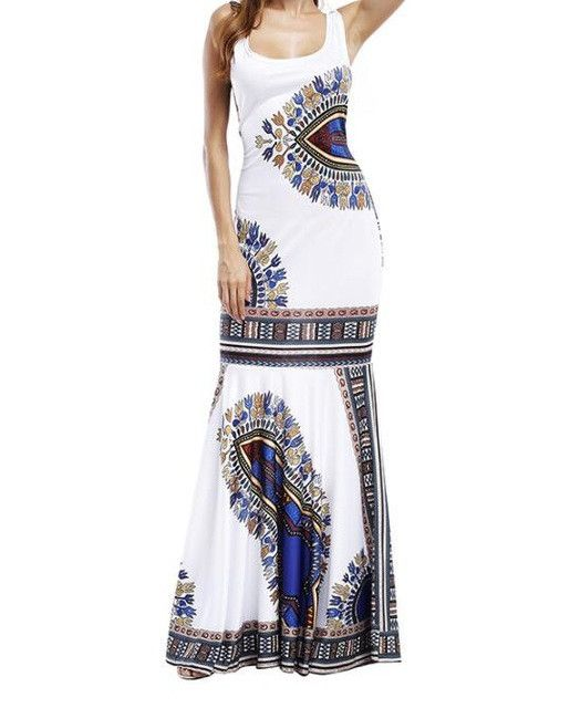 Elegant African Dashiki Maxi Dress – ZillyChic