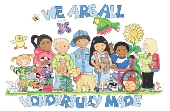 We Are All Wonderfully Made Poster on Etsy: Friends Creations, Teacherly Things